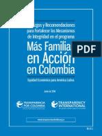 Hallazgos y recomendaciones para fortalecer mecanismos de integridad en Familias en Acción