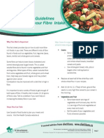 FACTSHEET Guidelines for Increasing Fibre Intake