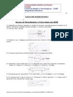 Exercícios Lista I Termodinâmica Ciclos e Diagramas dos MCIE pg 10 a 23.doc
