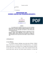 Download PENCEMARAN AIR  Sumber Dampak dan Penanggulangannya by Sri Utami SN24234034 doc pdf