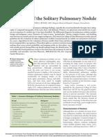 Evaluación Del Nodulo Pulmonar Solitario