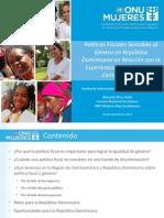 Políticas fiscales sensibles al género en República Dominicana en relación a la experiencias en países de América Latina y Caribe