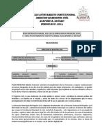 Plan Operativo Anual del Registro Civil