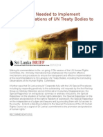 Mechanisms Needed to Implement Recommendations of UN Treaty Bodies to Sri Lanka -AI