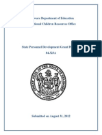 State Personnel Development Grant Proposal
