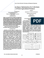 Study on the Time-space Optimization for Cold-chain Logistics of Fresh Agricultural Products