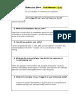 peer coaching reflection sheet 2