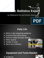 forensic ballistics expert