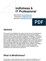 Mindfulness and the IT Professional (242355967)