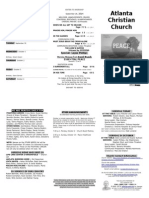 September 28, 2014 Trifold Bulletin