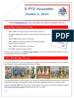 JFB PTO Newsletter 10-08-14