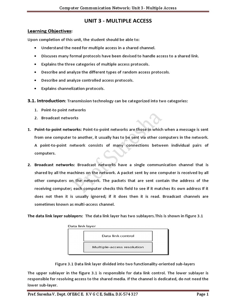 CCN NOTS Final Unit -3 (1) | Channel Access Method | Code Division Multiple Access