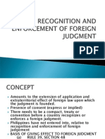 Recognition and Enforcement of Foreign Judgment