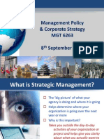 Management Policy and Corporate Strategy 8 Sept 2014