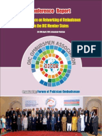 Conference on Networking of Ombudsmen of Organization of Islamic Cooperation Member States, Islamabad, Pakistan April 28-29, 2014