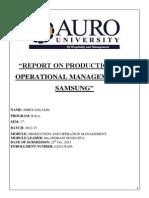 SAMSUNG Operartion Management Report