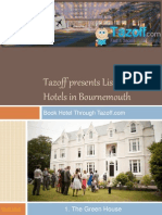 Tazoff Presents List of Top 30 Hotels in Bournemouth