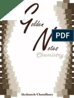 Golden notes - Chemistry - Akshansh