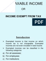 Income Exempt From Taxsection-10 to 13