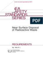 IAEA -Near Surface Disposal of Radioactive Waste WS-R 1