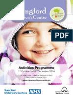 Activities October to December 2014