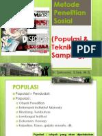 Metode Penelitian Sosial - Populasi Sampel