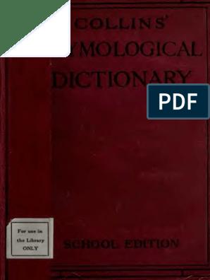 Collinsetymologi00londuoft Grammatical Gender Abbot
