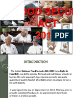 Food security act - India Presentation