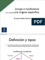 SHOCK, SINCOPE. INSUFICIENCIA CIRCULATORIA ORGANO ESPECIFICA.pdf