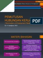 PEMUTUSAN HUBUNGAN KERJA (Termination of Employment).ppt