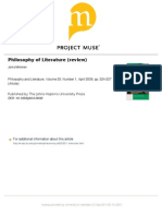 Philosophy of Literature Review by Jukka Mikkonen