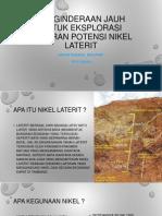 Penginderaan Jauh Untuk Eksplorasi Sebaran Potensi Nikel Laterit