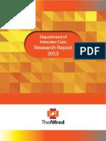Alfred ICU Research Report 2013