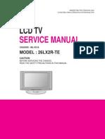 Lg 26lx2r-Te Chassis Ml-051a Sm