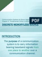 Discrete Memoryless Source Final 2