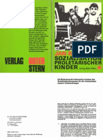 Jan Carl Raspe - Zur Sozialisation proletarischer Kinder