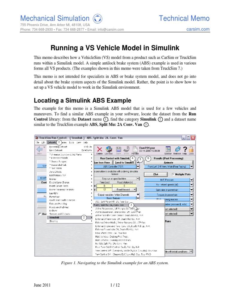 Simulink ABS Example | Parameter (Computer Programming) | Anti Lock