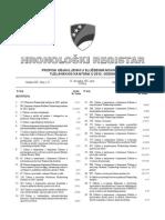 Hronoloski Registar 2012