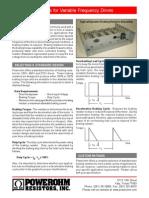 VFD Braking Resistor_Powerohm