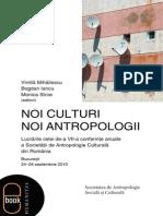 Noi Culturi Noi Antropologii Vintila Mihailescu