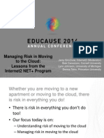 Managing Risk in Moving to the Cloud