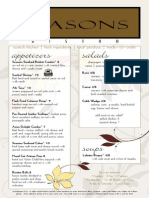 Seasons Bistro Menu FALL 2014