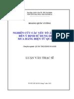 Luận văn Nghiên cứu các yếu tố ảnh hưởng đến ý định sử dụng dịch vụ mua hàng điện tử qua mạng Năm 2010.pdf