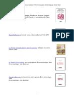 Bibliographie livres, livres d'artistes, CD et livres audio chronologique Alain Marc