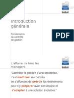 Introduction - Fondements du contrôle de gestion
