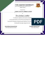 Certificate Judges