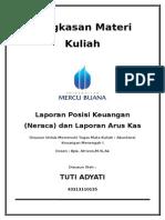 Laporan Posisi Keuangan (Neraca) dan Laporan Arus Kas