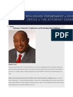Dominic Carter keynotes Wisconsin Attorney General Child Abuse Conference