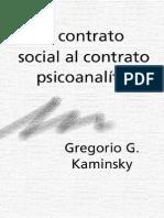 Gregorio Kaminsky - Del Contrato Social al Contrato Psicoanalitico.pdf