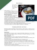 Bulz Ciobanesc - Dumplings With Butter and Cheese